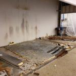 Walk In Combo Floor Being Removed